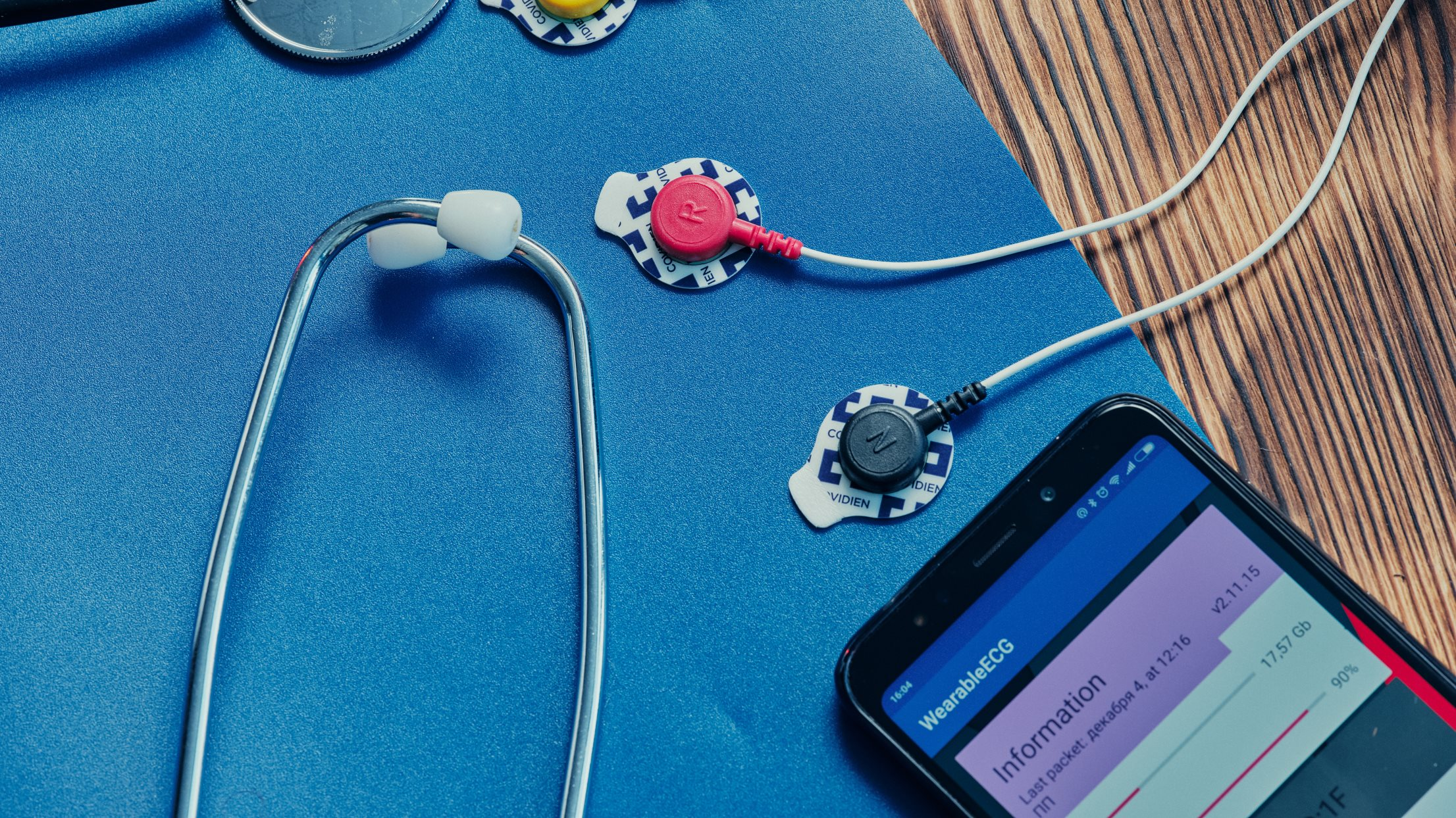 ECG electrodes and the Android app
